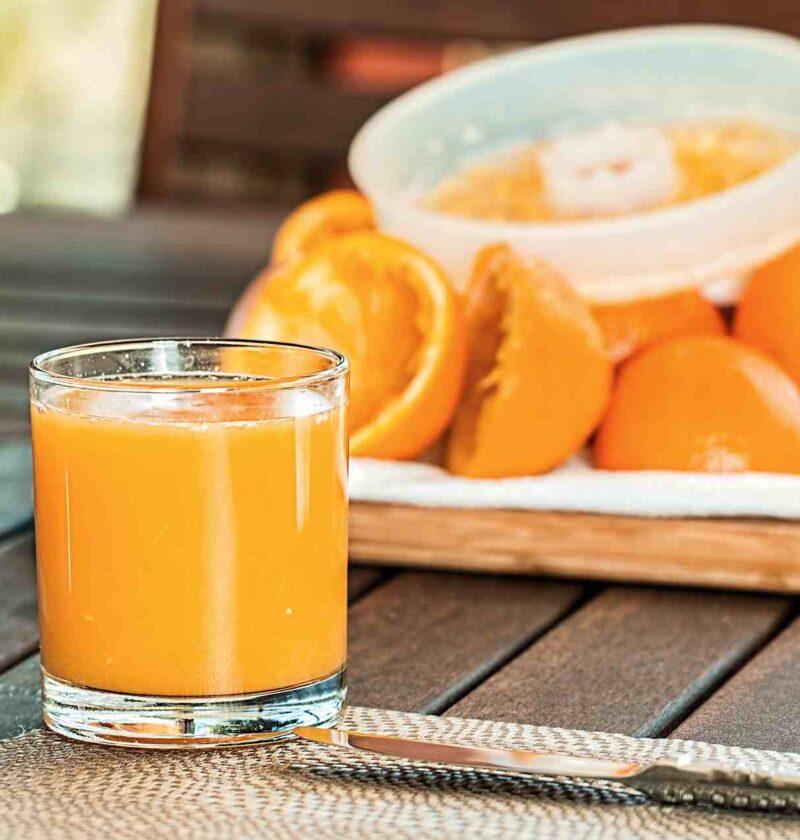Spremuta di arance in evidenza
