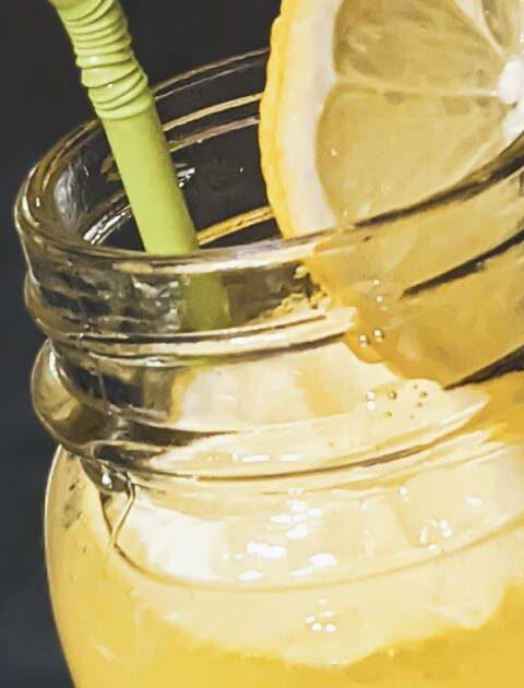 drink al limone in primo piano